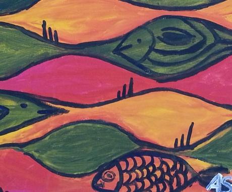 Fische und Vögel
