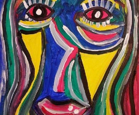 Frau in Acryl