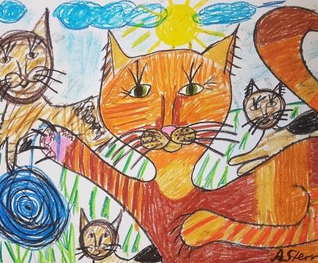 Die spielenden Katzen